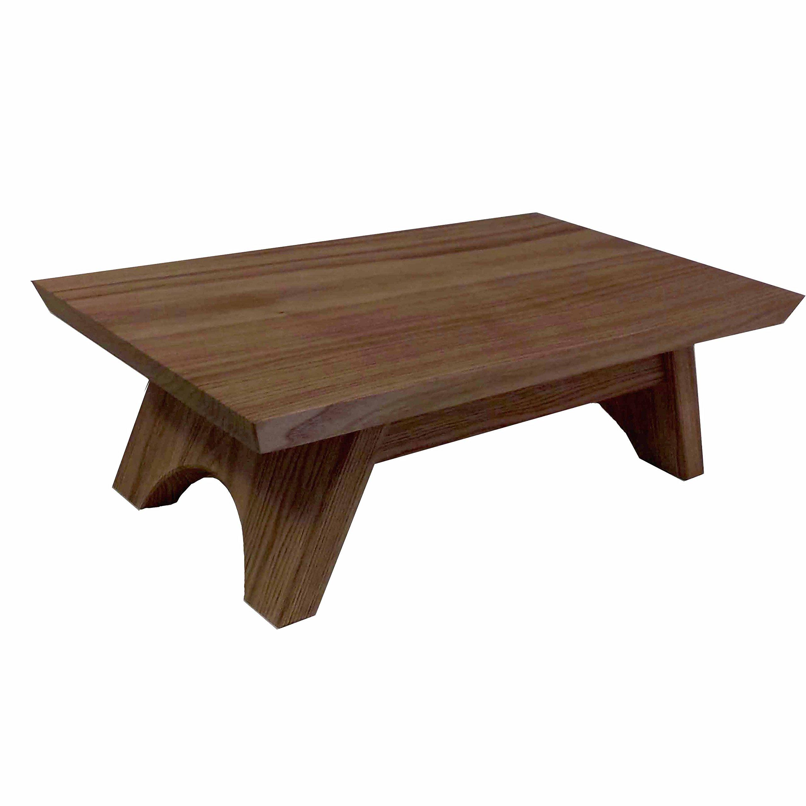 EarthBench Pedestal Stand ~ BUTTERNUT (Shrine Table Pedestal: 15''×9'' wide)