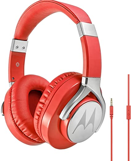 motorola Pulse MAX - Auriculares con Cable, Color Rojo