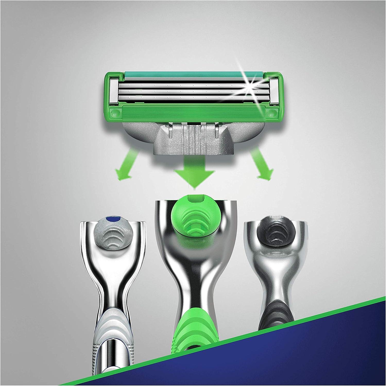 Gillette Mach3 pieles sensibles cuchillas de afeitar para hombre/8 ...