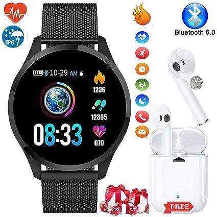Smartwatch, Reloj Inteligente Mujer Hombre Pulsera de ...