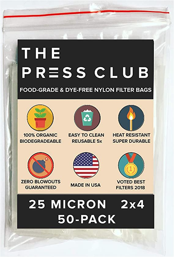 25 Micron | Premium Nylon Tea Filter Press Screen Bags | 2