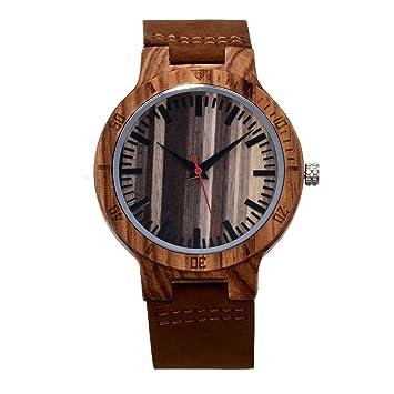 Relojes De Hombre, Retro Stripes, Madera, Cuarzo, La Personalidad, La Sencillez