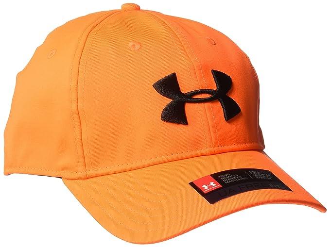 official photos c92ea 4744e Under Armour Men s Camo 2.0 Cap, Blaze Orange  Black, One Size