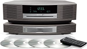 Bose Wave Music System with Multi-CD Changer - Titanium Silver, Compatible with Alexa Amazon Echo (Renewed) BRAND NEW!