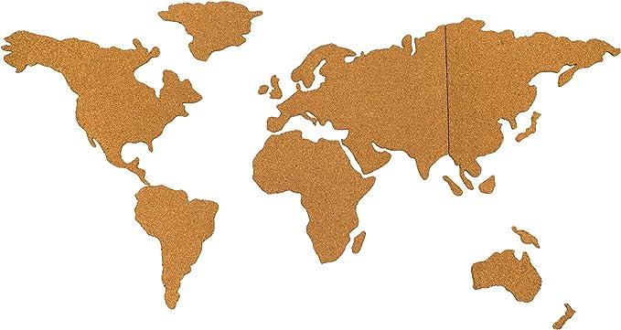 Davom - Mapamundi de corcho (100 x 50 cm, 6 mm de grosor, tamaño XL): Amazon.es: Bricolaje y herramientas