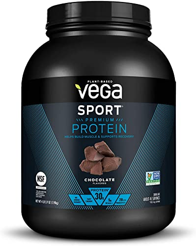 Vega Sport Protein Powder Chocolate 45 Servings, 69.9 Ounce – Plant Based Vegan Protein Powder, BCAAs, Amino Acid, Tart Cherry, Non Dairy, Keto-Friendly, Gluten Free, Non GMO Packaging May Vary