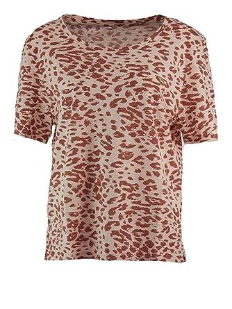 4cda497237d219 81Hours Damen Nasty Leo Animal-Print Shirt in Rosé-Rot, Größe:M ...