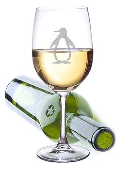 Pingüino Extra grande vino vidrio Capacidad para una botella entera de vino. El juego de