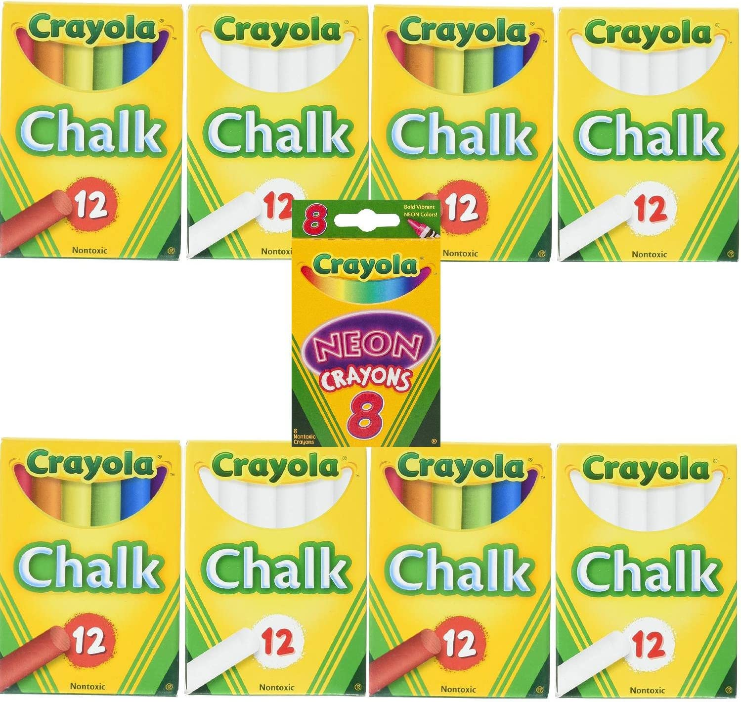 Binney /& Smith Childrens Chalk Assorted Pack of 12
