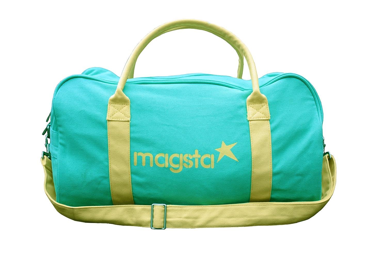 Magsta Sporttasche - Gym, Fitness und ideal als Reisetasche (Mint Grün Gelb) Miss Mel Bourne