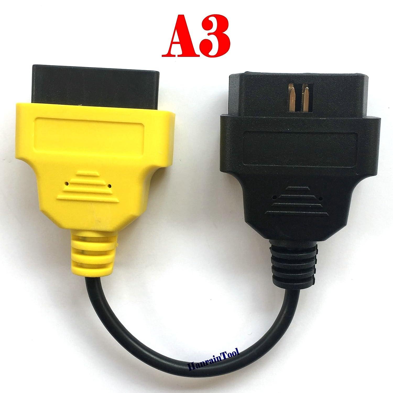El cable adaptador OBD 3 A3 amarillo para vehículos de la serie ...