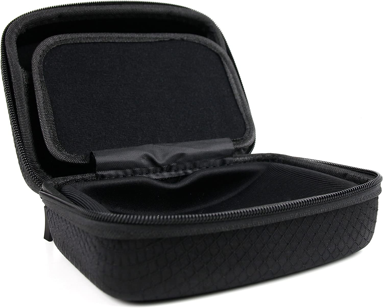 DURAGADGET Jet Black Hard EVA Carry Case Compatible with The REXING V1P