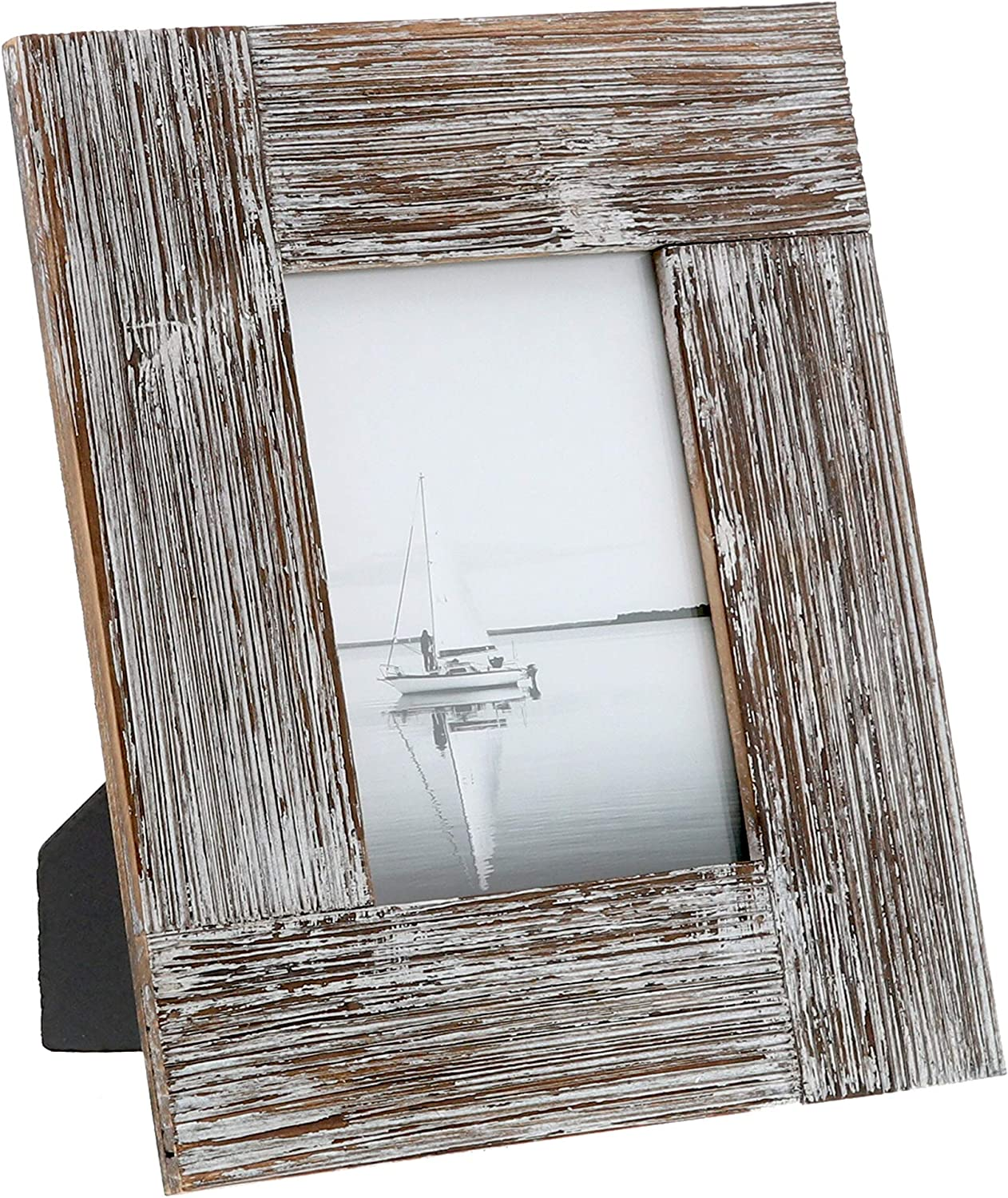 """Barnyard Designs Rustic Farmhouse Distressed Picture Frame - Unfinished Wood Photo Frame 5"""" x 7"""""""