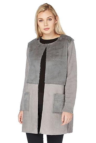 Manteau gris femme 38
