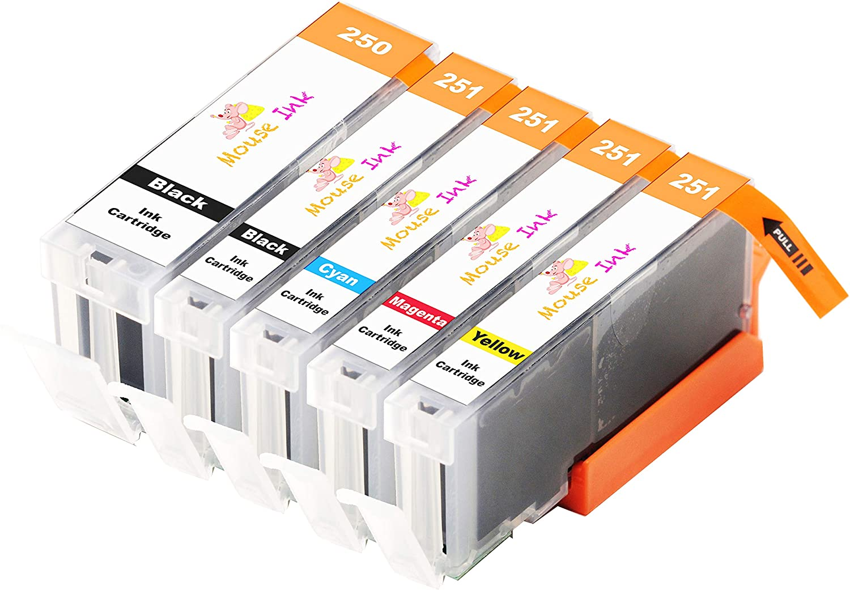 MG5420 4-Pack Black Ink Cartridge for Canon PIXMA IX6820 MX720 Printer MX722