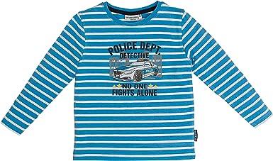 Salt & Pepper Jóvenes Policía Camisa, Azul a Rayas 03111152 ...