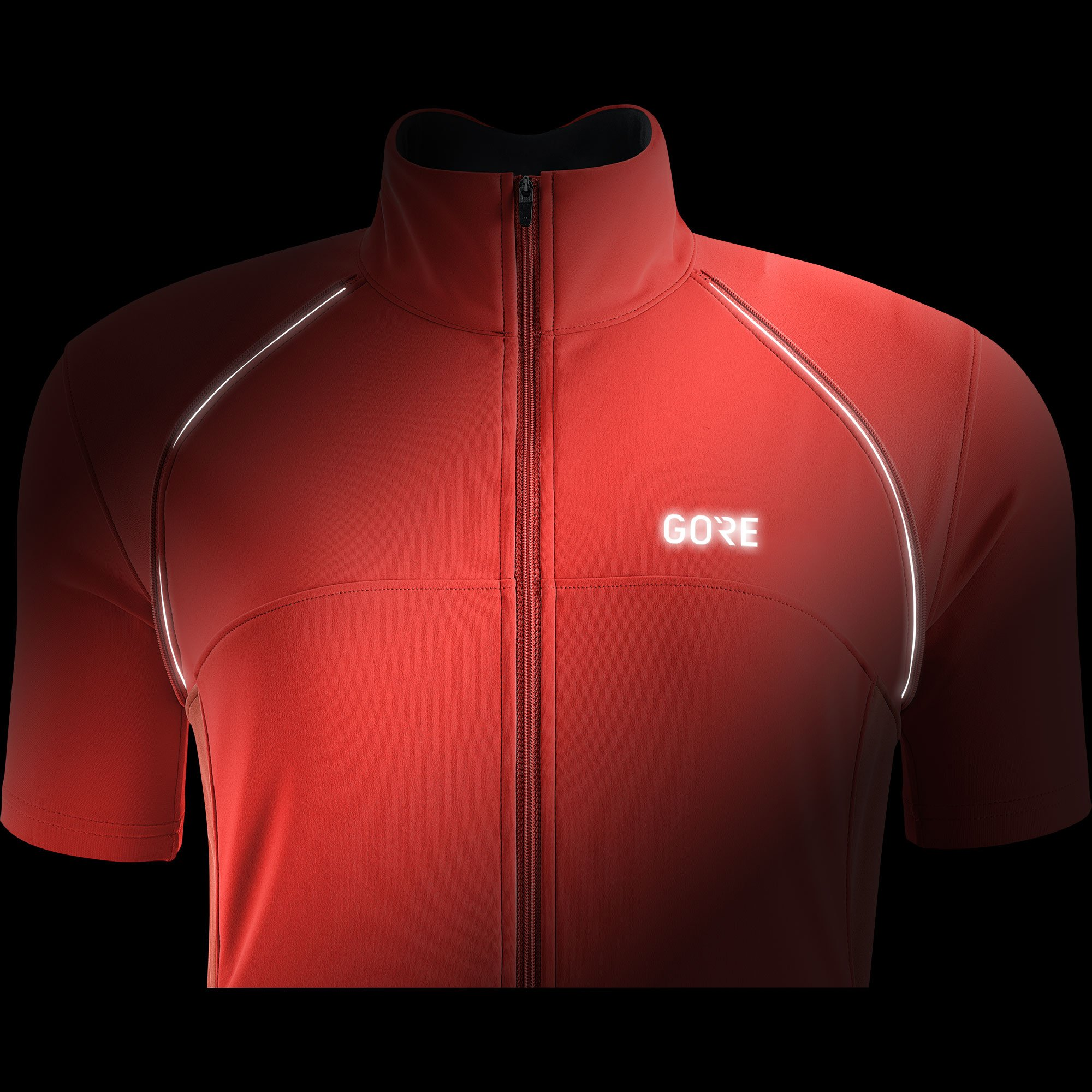 GORE Wear Women's Windproof Cycling Jacket, Removable Sleeves, GORE Wear C3 Women's GORE Wear WINDSTOPPER Phantom Zip-Off Jacket, Size: M, Color: Lumi Orange/Coral Glow, 100191 by GORE WEAR (Image #6)