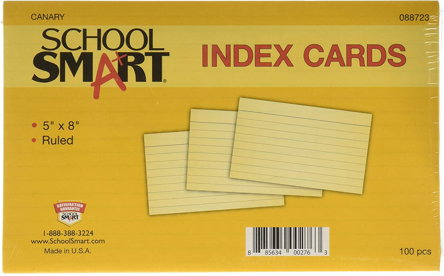 """Heavyweight Thick White Cover Stock./""""100 per pack/"""" Ruled Index Cards On 100lb"""