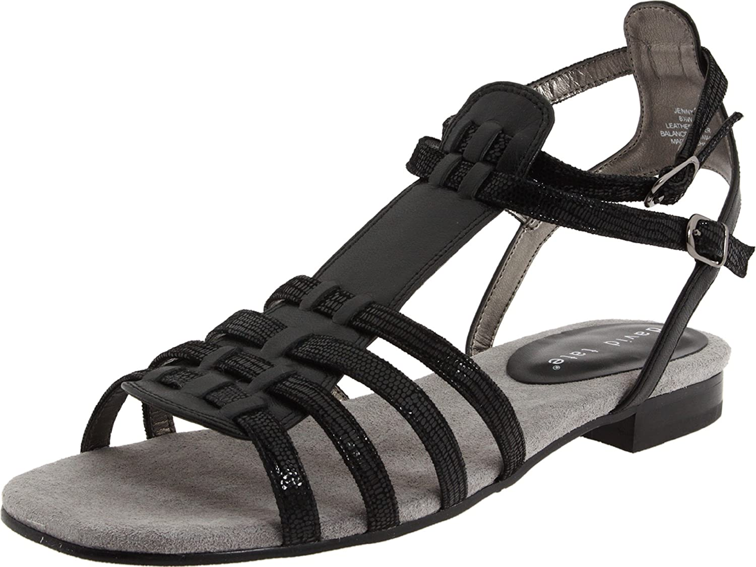 David Tate Women's Jenny Flat B0042DCD74 10.5 XW US|Black Kid
