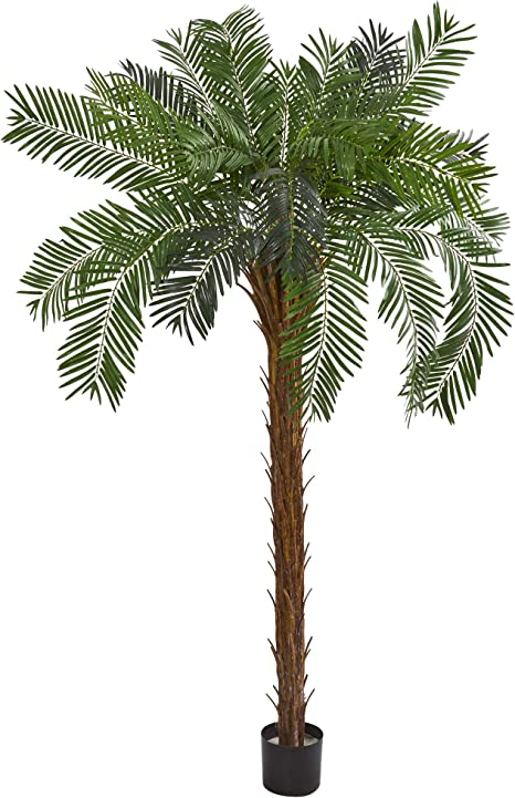 LED Lighted Giant Artificial Tropical Palm Tree 96 Green Lights Decor 7 Ft Large