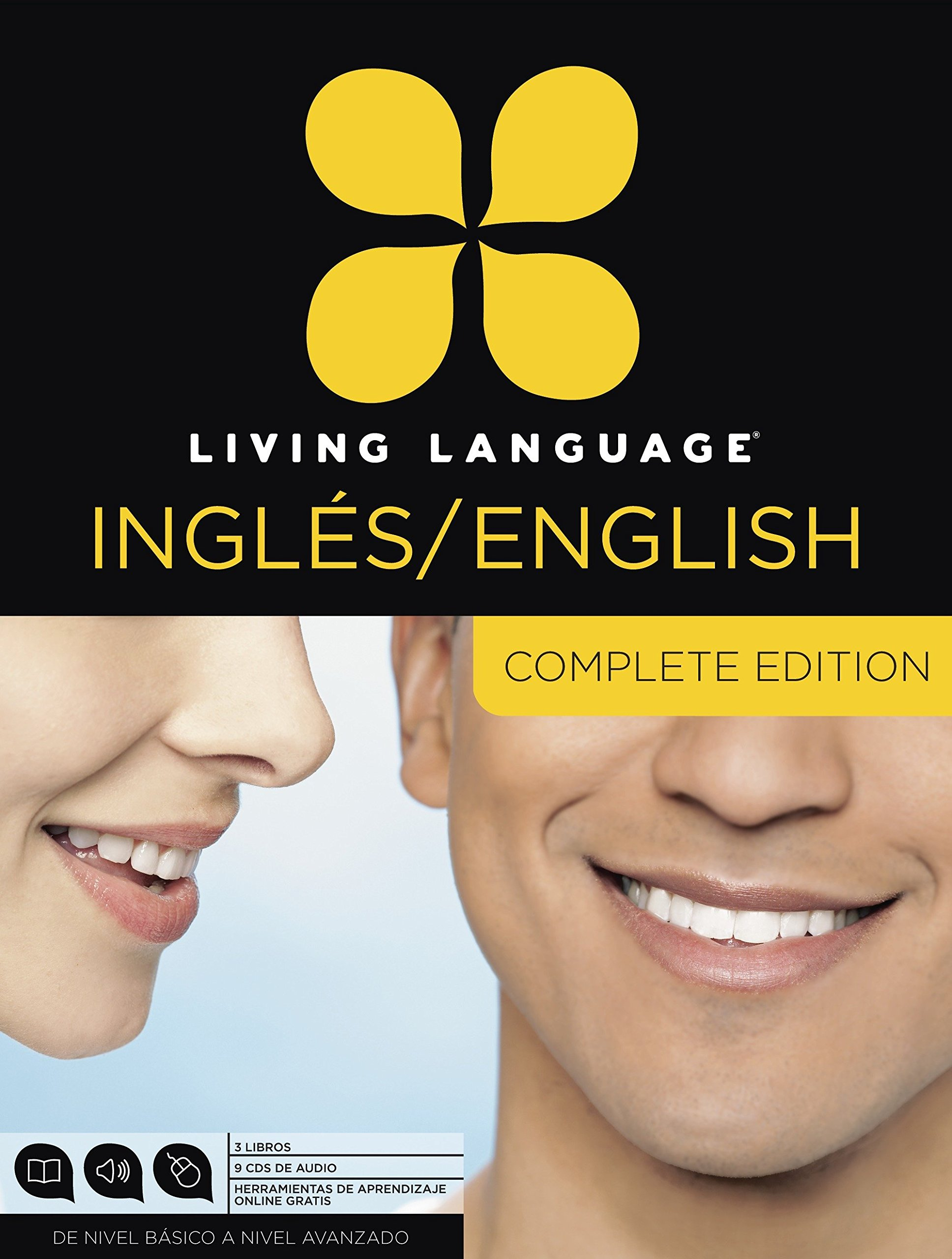 Living Language English for Spanish Speakers, Complete Edition (ESL/ELL): Beginner  through advanced course, including 3 coursebooks, 9 audio CDs, and free ...