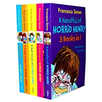 Francesca Simon's Horrid Henry 15 Titles in 5 Books Collection Set £44.95 (A Handful of Horrid Henry 3 Book in 1:Horrid Henry,Horrid Henry and the Secret Club,Horrid Henry Tricks the tooth fairy,A Helping of Horrid Henry 3 Books in 1:Horrid Henry Nits, Horrid Henry Get Rich Quick, Horrid Henry Haunted House, Horrid Henry and the Mage Man Time Machine,Horrid Henry and the Football Fiend, #  Horrid Henry Christmas Cracker ,Horrid Henry and the Mummy's Curse,#  Horrid Henry Revenge ,#  Horrid Henry and the Bogey Babysitter , #  Horrid Henry Stinkbomb ,#  Horrid Henry Underpants ,  Horrid Henry Meets the Queen)