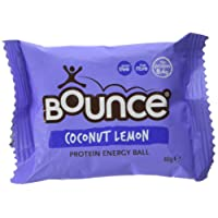 Bounce Foods Coconut Lemon Protein Crush Energy Balls 40 g (Pack of 12)