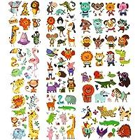 PHOGARY Zoo Tatuajes De Animales 200 Piezas 20 Hojas Tatuajes Temporales con Temática Animal Body Art Tatuajes a Prueba…