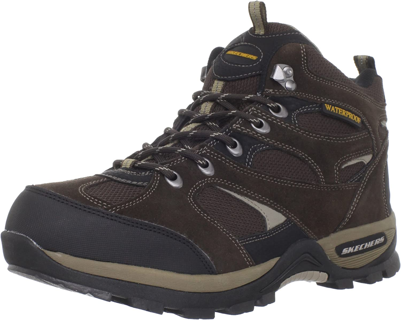 pubertad Alergia aceptable  Amazon.com | Skechers Men's Bomags Calder Waterproof Lace-Up Boot | Hiking  Boots