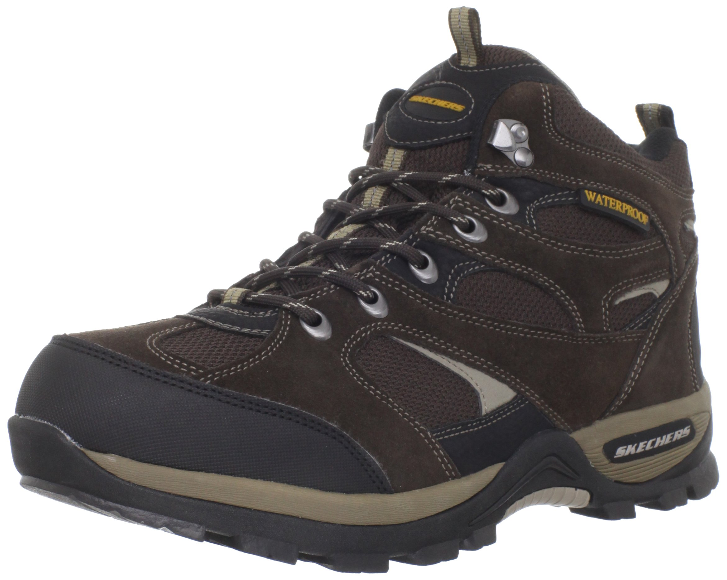 Skechers USA Men's Bomags Calder Lace-up Boot,Brown,9 M US
