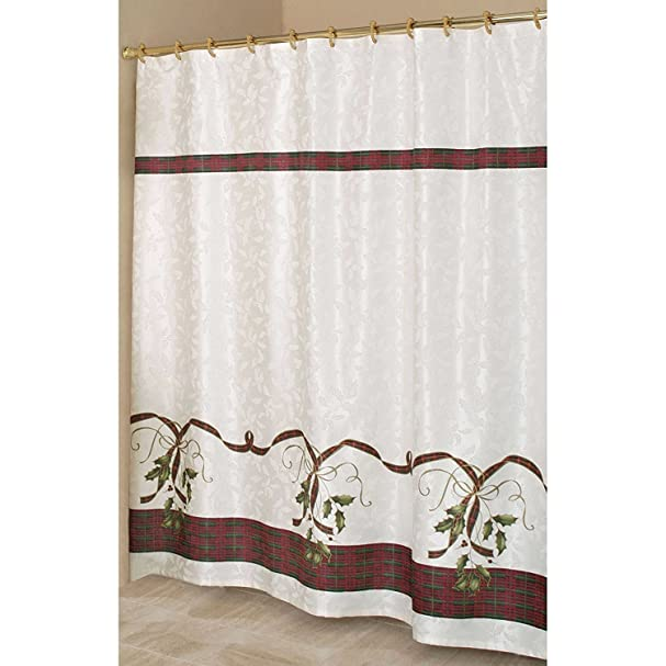 Lovely Lenox Holiday Shower Curtain Part - 11: Amazon.com