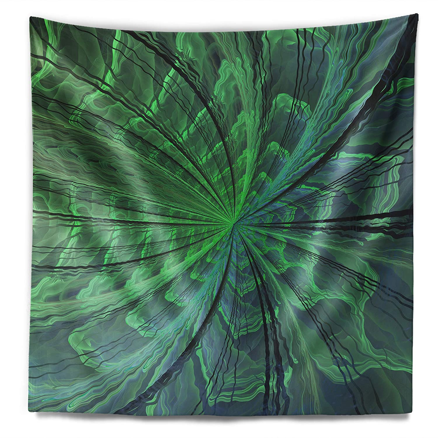 X 60 In Designart Tap11990 50 60 Symmetrical Soft Green Fractal Flower Floral Blanket Décor Art For Home And Office Wall Tapestry Large Created On Lightweight Polyester Fabric 50 In