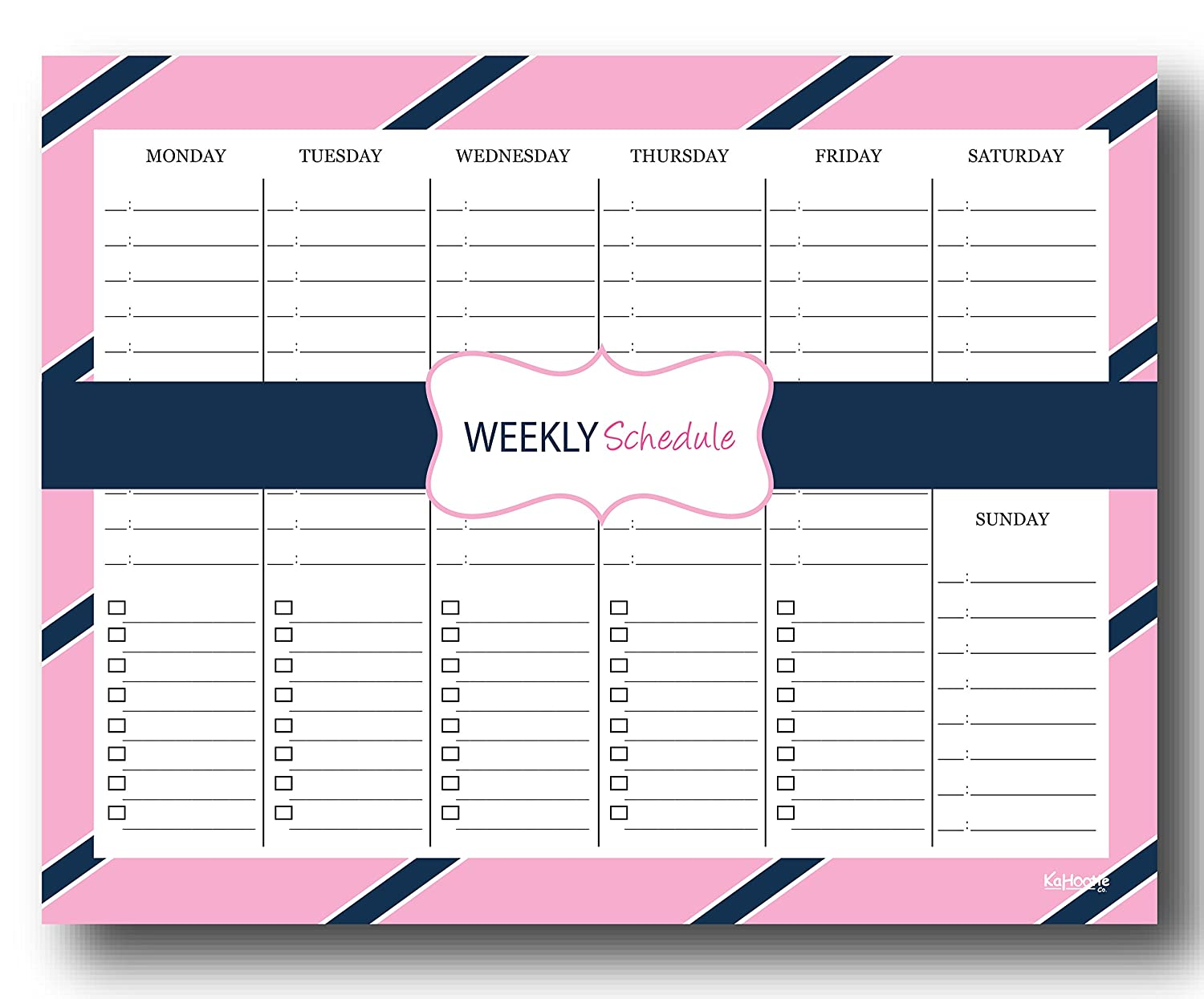Amazon.com : Kahootie Co Weekly Schedule Notepad- Daily ...
