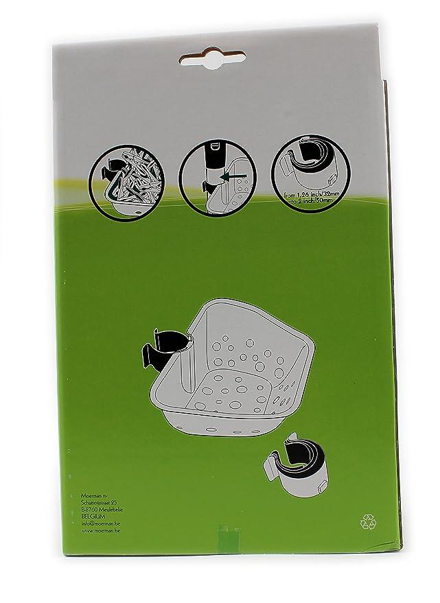 Práctico clip de plástico cesta para pinzas con 4 clips de ...