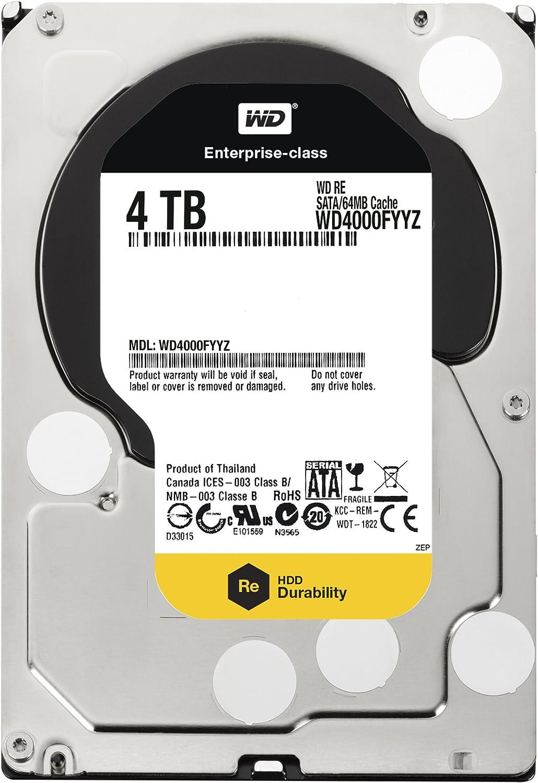 WD4TB 3.5 Inch SATA III, 7200 RPM, 64 MB Cache Enterprise Hard Drive (WD4000FYYZ)