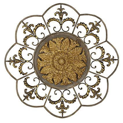 Perfect Image Unavailable. Image Not Available For. Color: Welcome Home Accents  Antique Ivory Medallion Round Wall Decor