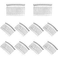 LURROSE 10 stycken transparent plast hårklämma kammar fransk tvinnad kam tråd hår sidokamar brud bröllop slinga kammar…