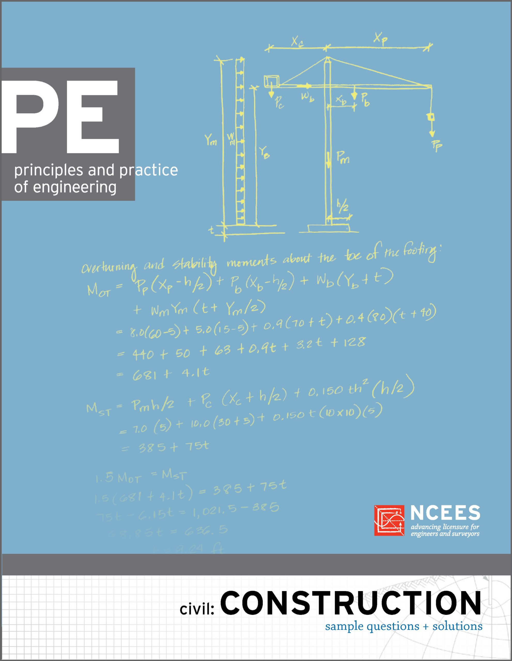 PE Civil: Construction Sample Questions and Solutions: NCEES:  9781932613513: Amazon.com: Books