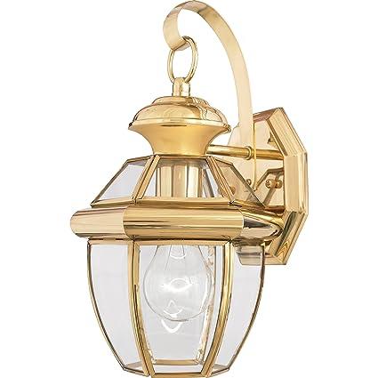 quoizel ny8315b newbury 1 light outdoor lantern polished brass