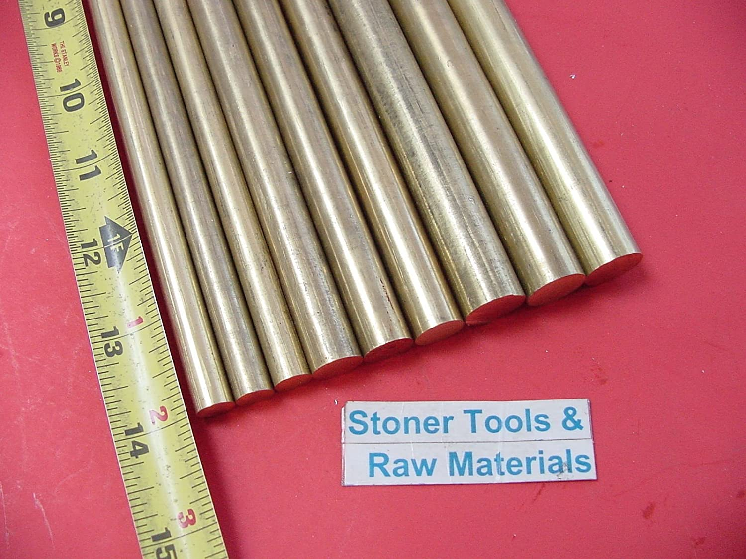 """3//8/"""" 1//2/"""" /& 5//8/"""" C360 BRASS ROUND ROD 13/"""" Long 3 Pieces of  Each Solid H02 Bar"""