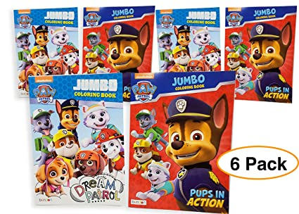 Amazon Com Paw Patrol Jumbo Coloring Book Activity Book
