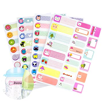 amazon com 97 pcs waterproof name labels stickers tags write on