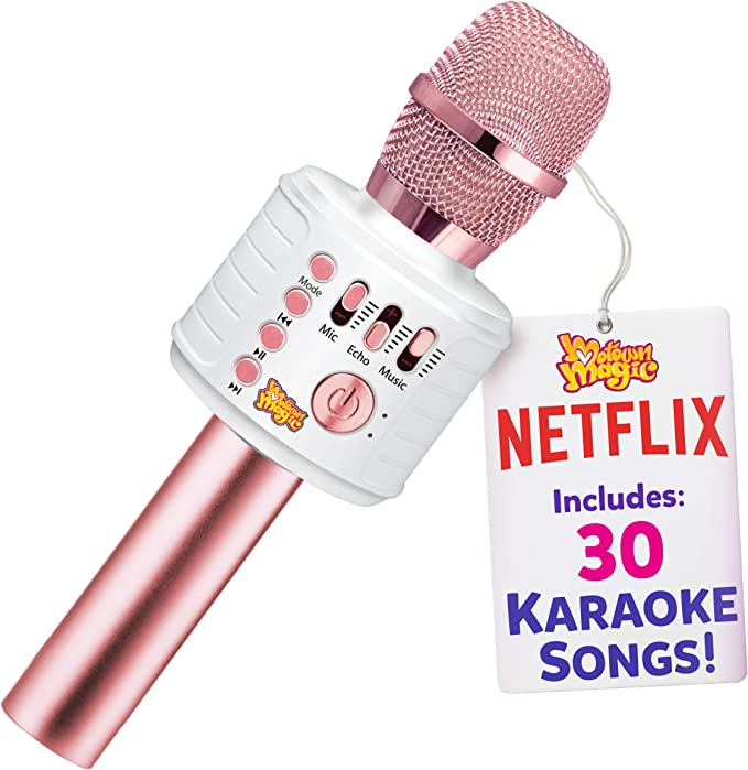 Karaoke Microphone for Kids, Toy for 4 5 6 7 8 Year Old Girls