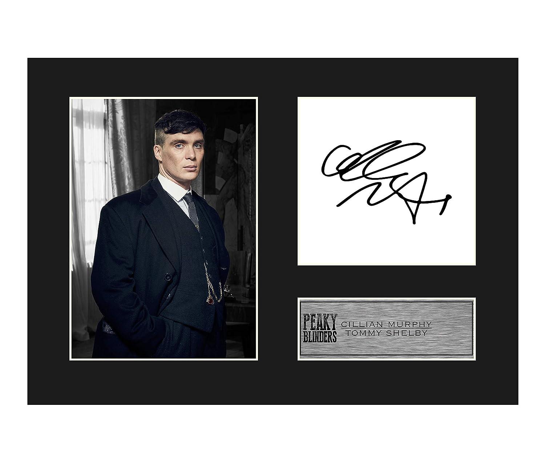 stampa regalo Tommy Shelby #01 di Peaky Blinders Foto autografata di Cillian Murphy formato A4