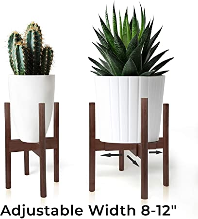 Eco-gents Bamboo Adjustable Plant Stand 8-12 heavy duty indoor//outdoor