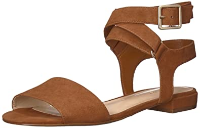 57d21b9510b3 Nine West Women s INCH Flat Sandal Dark Natural Suede 6.5 ...