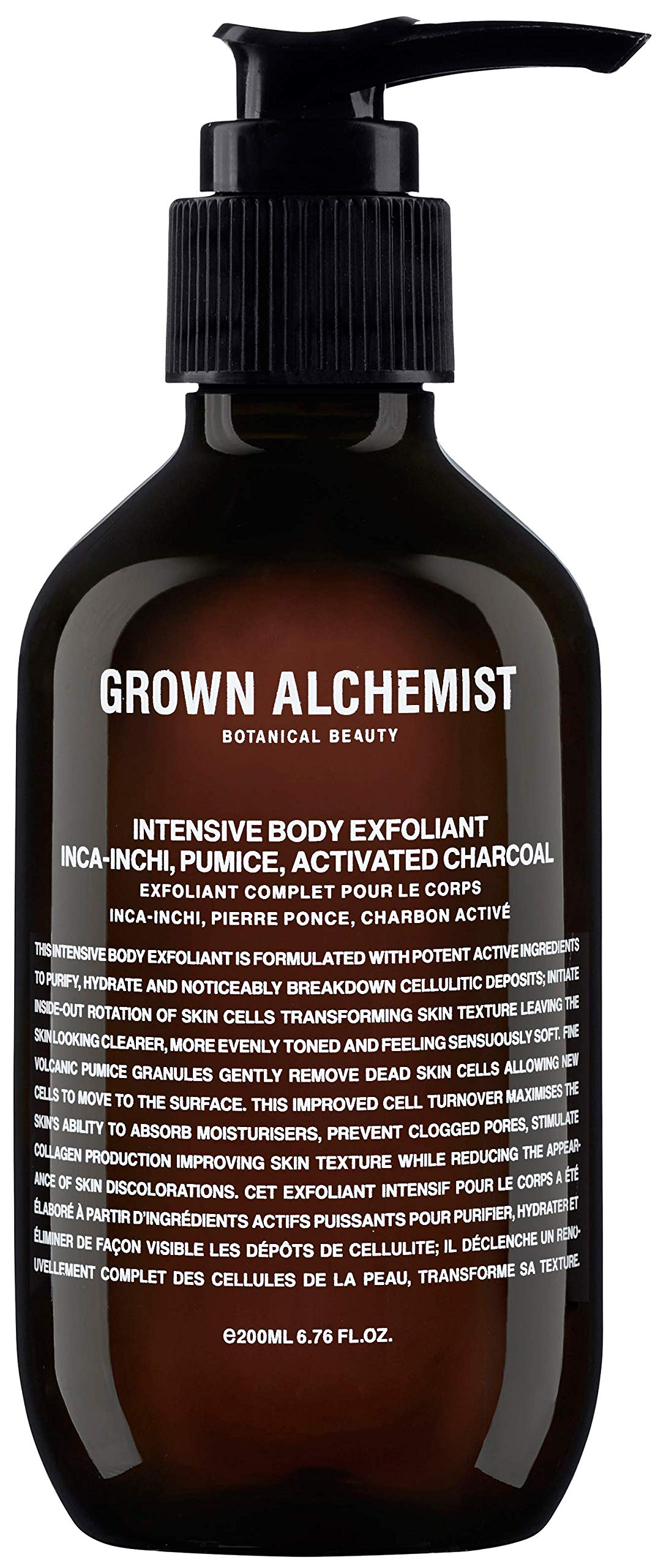Grown Alchemist Intensive Body Exfoliant - Inca-Inchi, Pumice & Activated Charcoal Scrub (200 Milliliters, 6.76 Ounces)