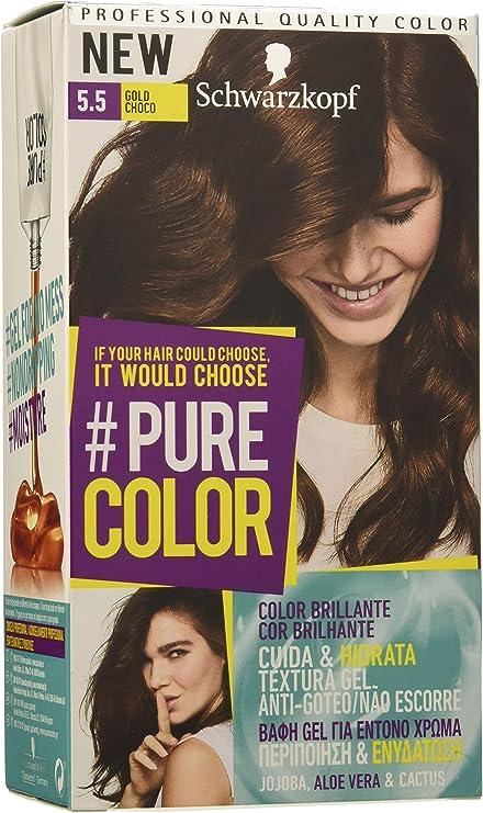 Pure Color de Schwarzkopf Tono 5.5 Gold Choco - 2 uds - Coloración Permamente