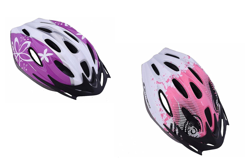 Ammaco Stylish Girls Womens Adjustable Bicycle Helmet Bike Lid Pink or Purple