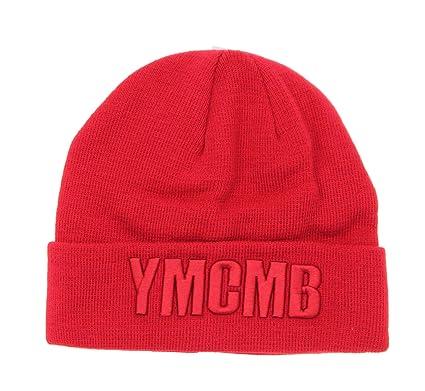 b149dd45f38 YMCMB Logo Beanie Hat-Red  Amazon.in  Sports